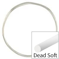 Sterling Silver Wire Round Dead Soft 20ga (Priced per Foot)