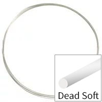 Sterling Silver Wire Round Dead Soft 24ga (Priced per Foot)