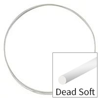 Sterling Silver Wire Round Dead Soft 26ga (Priced per Foot)