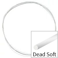 Sterling Silver Wire Round Dead Soft 28ga (10-Foot Coil)