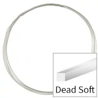 Sterling Silver Wire Square Dead Soft 22ga (Priced per Foot)