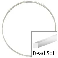 Sterling Silver Wire Square Dead Soft 24ga (Priced per Foot)