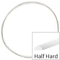 Sterling Silver Wire Half Round Half Hard 20ga (Priced per Foot)