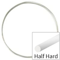 Sterling Silver Wire Round Half Hard 22ga (Priced per Foot)
