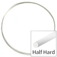 Sterling Silver Wire Round Half Hard 24ga (Priced per Foot)