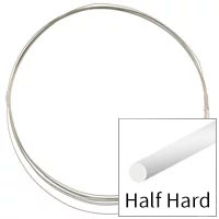 Sterling Silver Wire Round Half Hard 26ga (Priced per Foot)