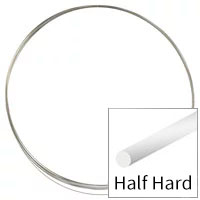 Sterling Silver Wire Round Half Hard 28ga (10-Foot Coil)
