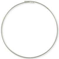 Sterling Silver Beading Hoops 1-1/4