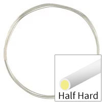 Sterling Silver Filled Wire Round Half Hard 20ga (1-Ft)
