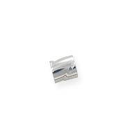 Twisted Seamless Crimp Tube Beads 2x2mm Sterling Silver (10-Pcs)
