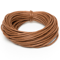 Griffin Waxed Cotton Cord 1mm Light Brown (5 Meters)