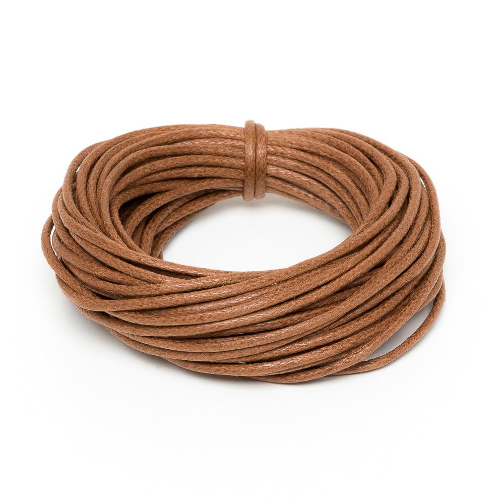 Light Brown Wax Cord Woven Bracelet