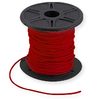 Leather Cord Red 1mm (Priced per Yard)