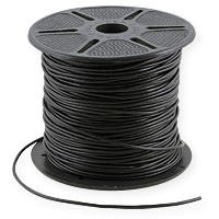 Leather Cord 3mm Black (Priced Per Yard)