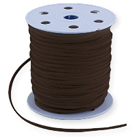Ultra Micro Fiber Suede Cord Dark Brown 3mm (Priced Per Yard)
