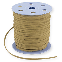 Ultra Micro Fiber Suede Cord Natural 3mm (Priced Per Yard)