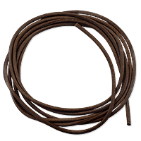 Griffin Brown Leather Cord 2mm (1 Yard)