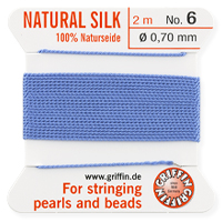 #6 Blue Griffin Silk Bead Cord (2 Meters)