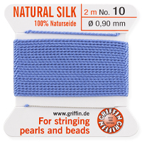 #10 Blue Griffin Silk Bead Cord (2 Meters)