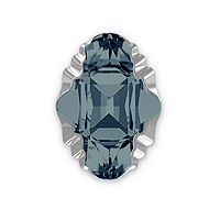 Swarovski Crystal 4926 Oval Tribe Fancy Stone 14x10mm Graphite Light Chrome (1-Pc)