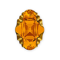 Swarovski Crystal 4926 Oval Tribe Fancy Stone 14x10mm Topaz Dorado (1-Pc)