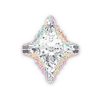 Swarovski 4927 Rhombus Tribe Fancy Stone 14x12mm Crystal AB (1-Pc)