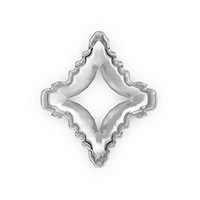 14x12mm Swarovski 4927 Rhodium Plated Rhombus Tribe Setting (1-Pc)