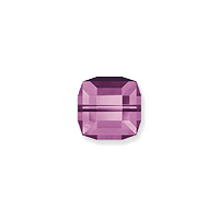Swarovski 5601 4mm Amethyst Cube Bead (1-Pc)