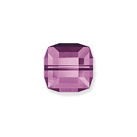 Swarovski Crystal 5601 6mm Amethyst Cube Bead (1-Pc)