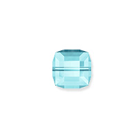 Swarovski Crystal 5601 4mm Aquamarine Cube Bead (1-Pc)