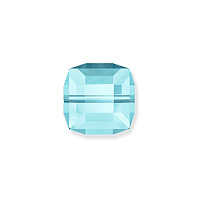 Swarovski Crystal 5601 6mm Aquamarine Cube Bead (1-Pc)