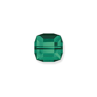 Swarovski Crystal 5601 4mm Emerald Cube Bead (1-Pc)