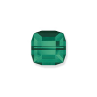 Swarovski Crystal 5601 6mm Emerald Cube Bead (1-Pc)