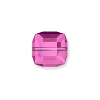 Swarovski Crystal 5601 6mm Fuchsia Cube Bead (1-Pc)