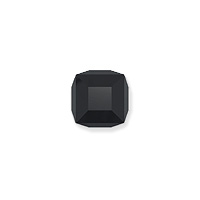 Swarovski Crystal 5601 4mm Jet Cube Bead (1-Pc)