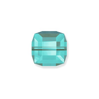 Swarovski Crystal 5601 6mm Light Turquoise Cube Bead (1-Pc)