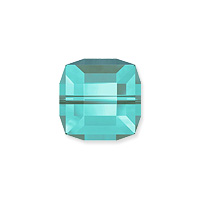 Swarovski Crystal 5601 8mm Light Turquoise Cube Bead (1-Pc)