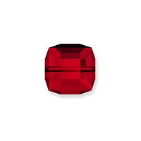 Swarovski Crystal 5601 6mm Siam Cube Bead (1-Pc)