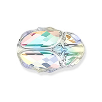 Swarovski 5728 Scarab Bead 12mm Crystal AB (1-Pc)