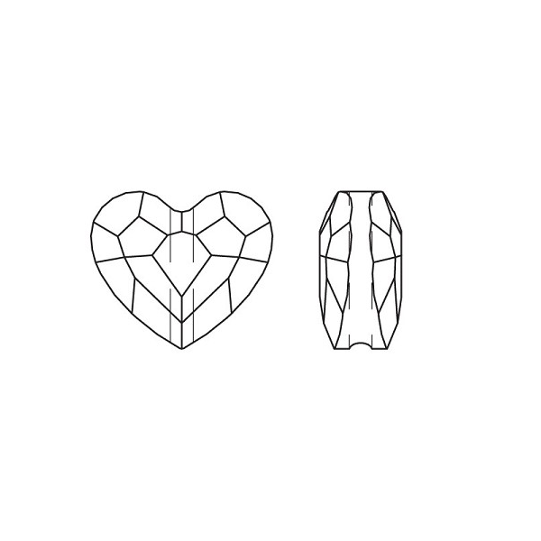 Swarovski 5741 Love Bead Line Drawing