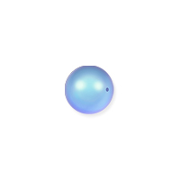 Swarovski 5810 3mm Iridescent Light Blue Round Crystal Pearl (10-Pcs)