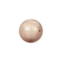 Swarovski 5810 6mm Rose Gold Round Crystal Pearl (10-Pcs)