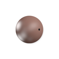 Swarovski 5810 8mm Velvet Brown Round Crystal Pearl (10-Pcs)