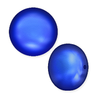 Swarovski Crystal Coin Pearl 5860 10mm Iridescent Dark Blue (1-Pc)
