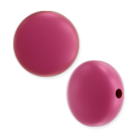 Swarovski Crystal Coin Pearl 5860 10mm Mulberry Pink (1-Pc)