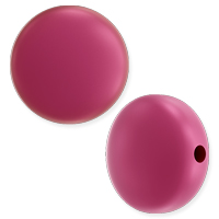 Swarovski Crystal Coin Pearl 5860 12mm Mulberry Pink (1-Pc)