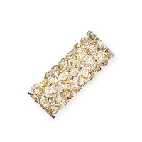 Swarovski Fine Rocks Tube Bead 5951 15x6mm Crystal Golden Shadow (1-Pc)