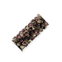 Swarovski Fine Rocks Tube Bead 5951 15x6mm Crystal Vintage Rose/Light Metallic Gold (1-Pc)