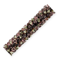 Swarovski Fine Rocks Tube Bead 5951 30x6mm Crystal Vintage Rose/Light Metallic Gold (1-Pc)