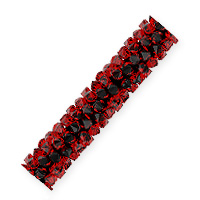 Swarovski Fine Rocks Tube Bead 5951 30x6mm Light Siam (1-Pc)